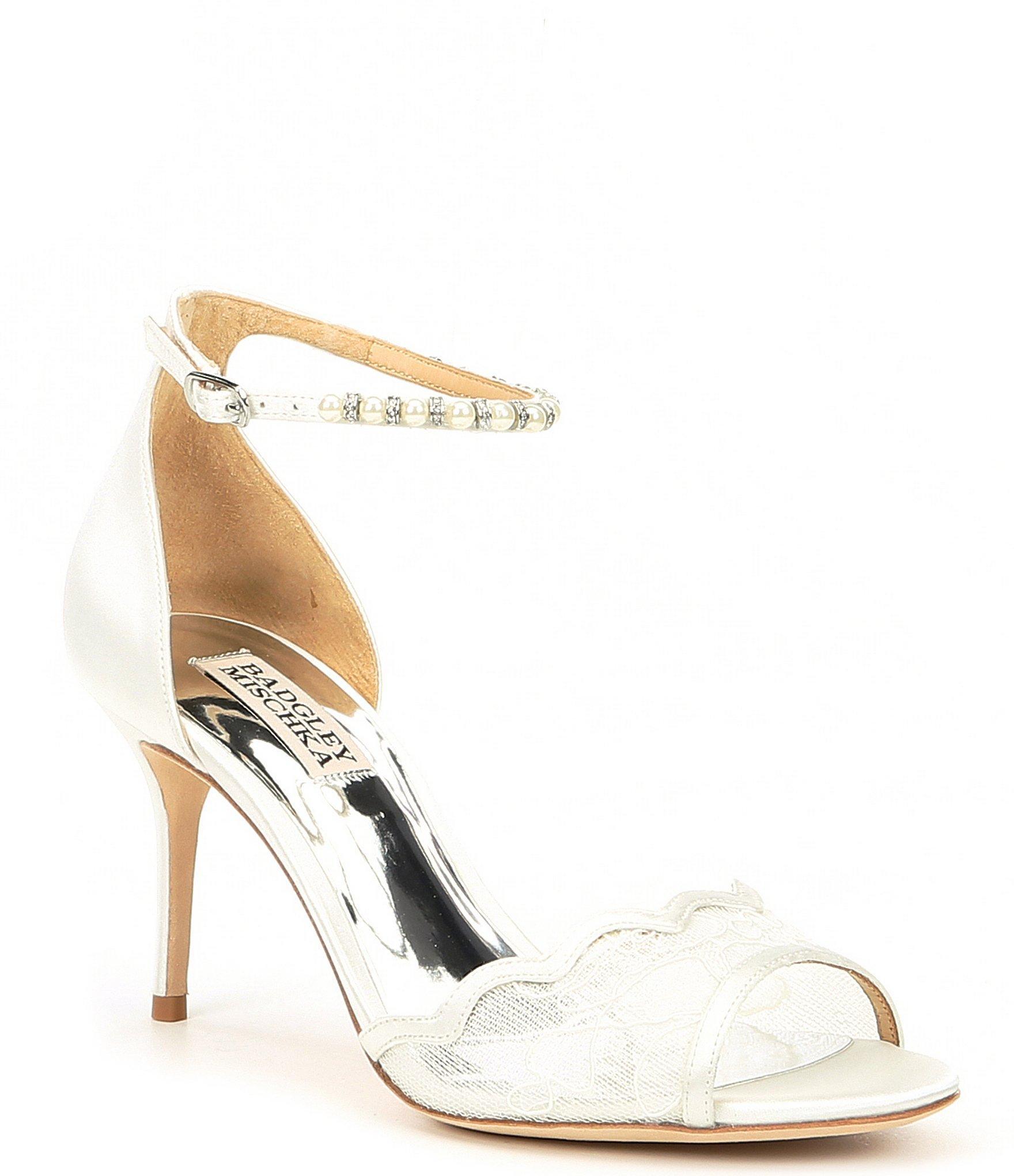 1f7dd45590 Badgley Mischka Lenora Dress Sandals in White - Lyst