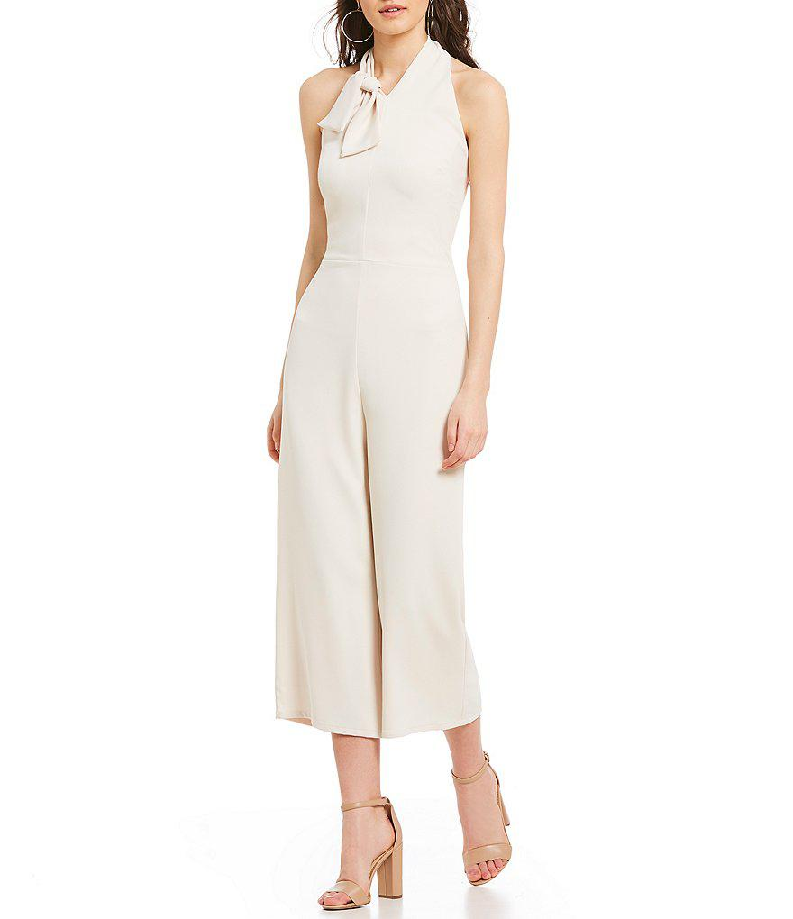 044c91acc71 Lyst - Sugarlips Bow Halter Culotte Jumpsuit in White