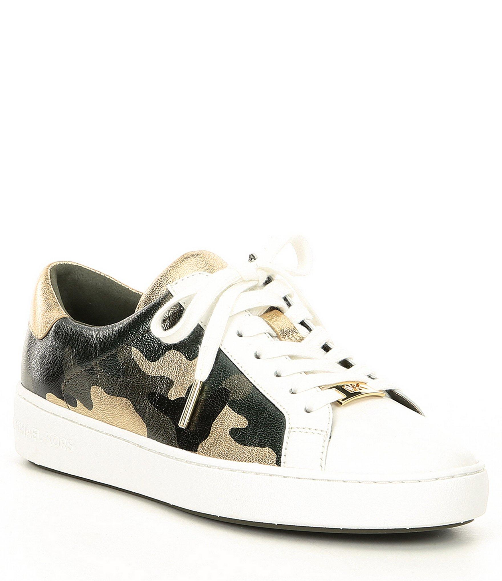 Irving Camo Printed Leather Sneakers