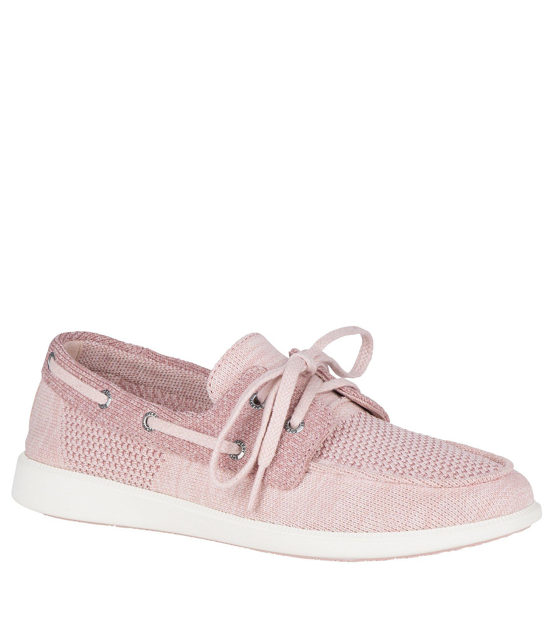 Sperry Top-Sider Oasis Dock Knit Boat Shoe Women 8 Rose