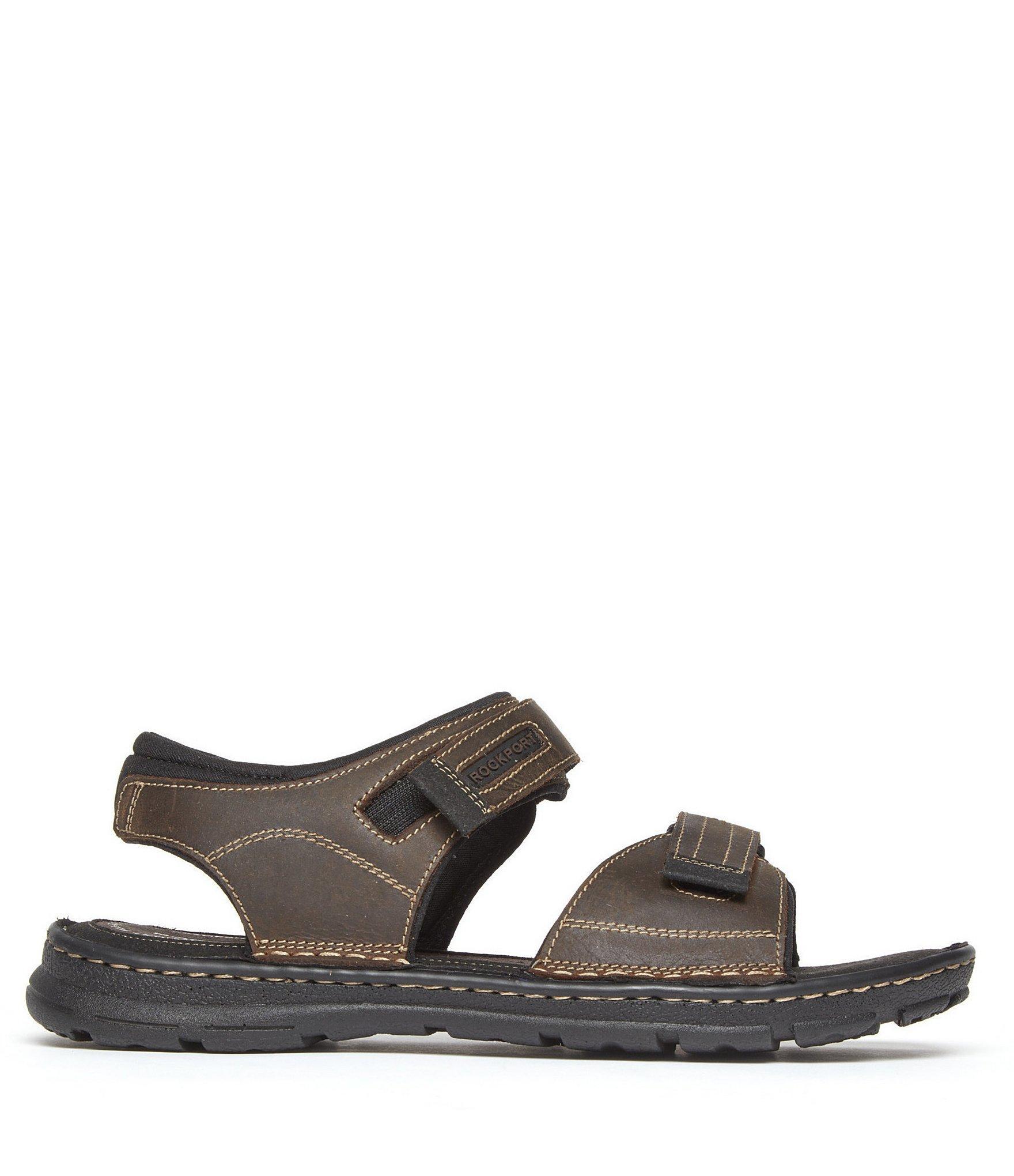 e63b50c0b5e5e8 Lyst - Rockport Men s Leather Darwyn Quarter Strap Sandal in Brown ...