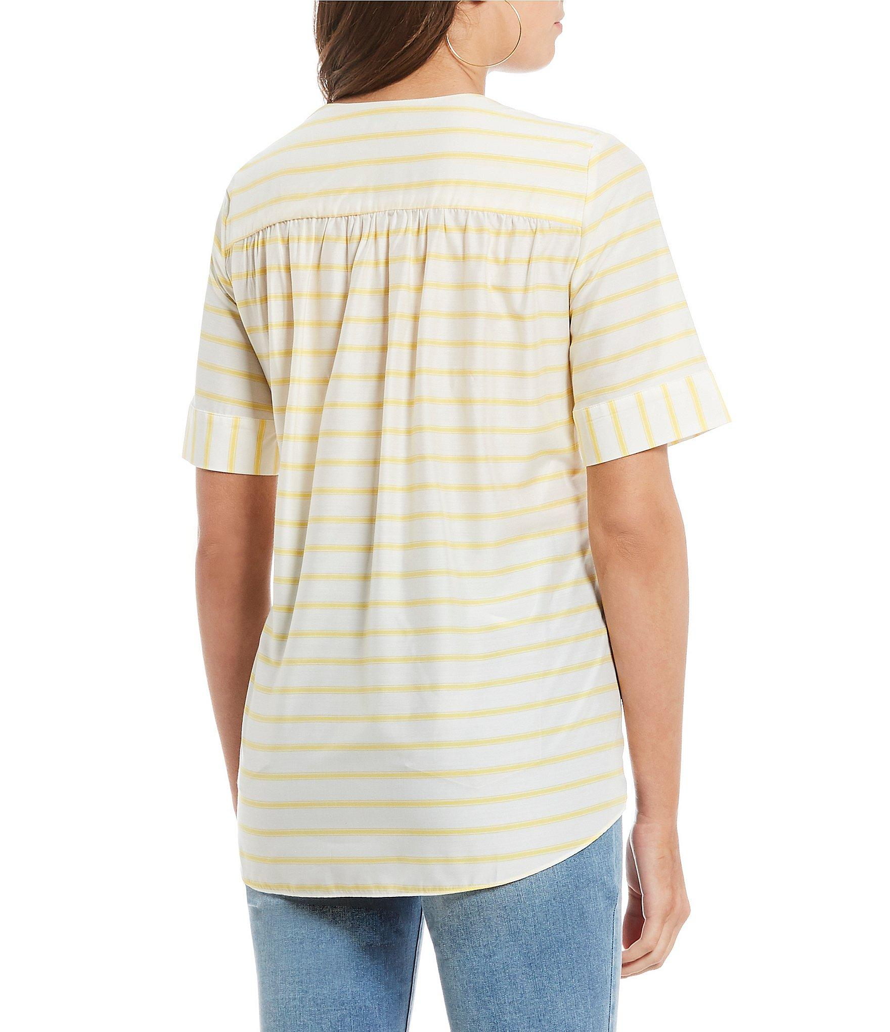 7494cd7bee981 Cremieux - Multicolor Brittney Striped V-neck Blouse - Lyst. View fullscreen