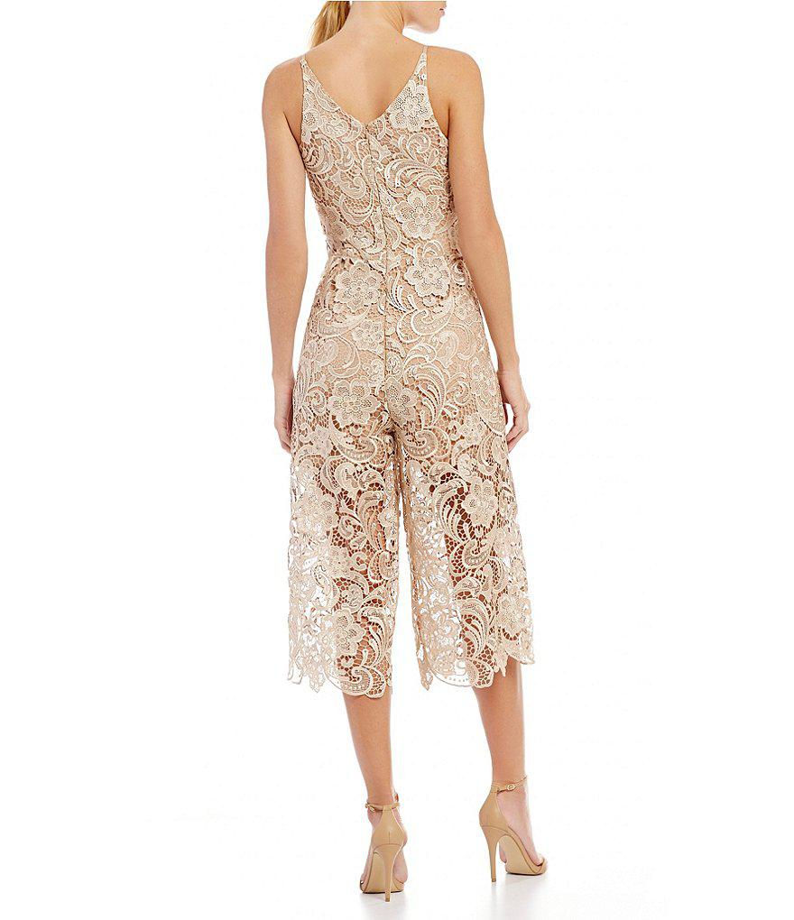 Dress The Population Marion Scalloped Lace Culotte