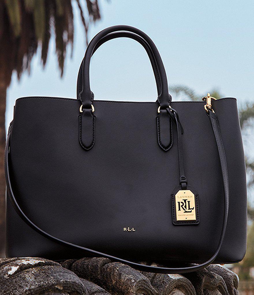 3245506a70 Lyst - Lauren by Ralph Lauren Dryden Collection Marcy Tote in Black