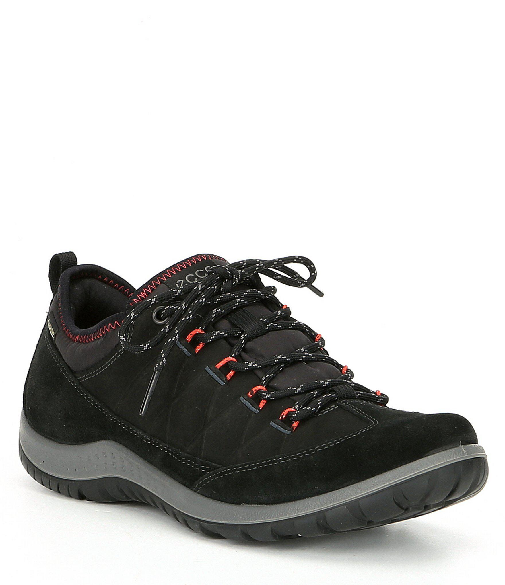 Ecco Black Gtx Waterproof Lyst In Aspina Low Sneakers Women's 7gfYb6yv