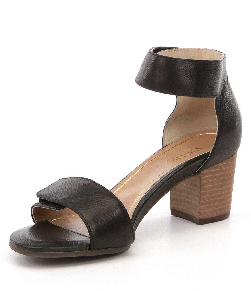 Solana Banded Leather Block Heel Sandals sF8FBd