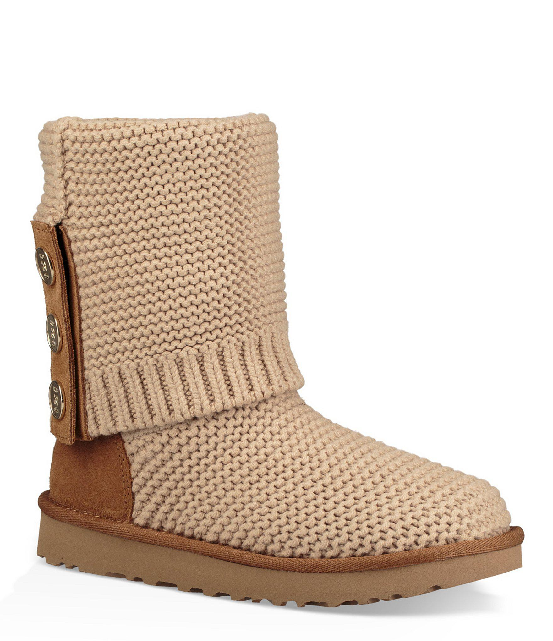 fbcb697f879 Ugg Natural Purl Cardy Knit Boots