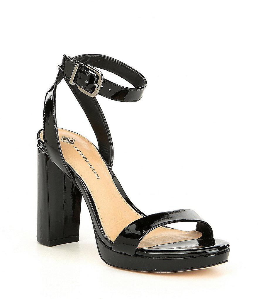 Antonio Melani Lituala Patent Leather Platform Dress Sandals KTKDneWzQ
