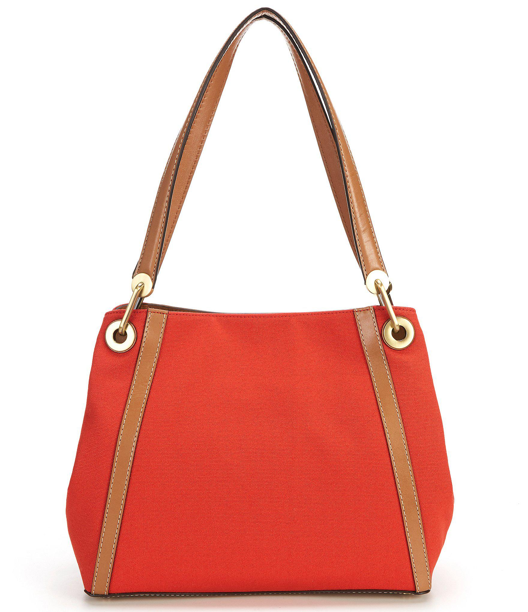 d19eafe731b86 MICHAEL Michael Kors - Red Raven Large Canvas Pocket Shoulder Tote - Lyst.  View fullscreen