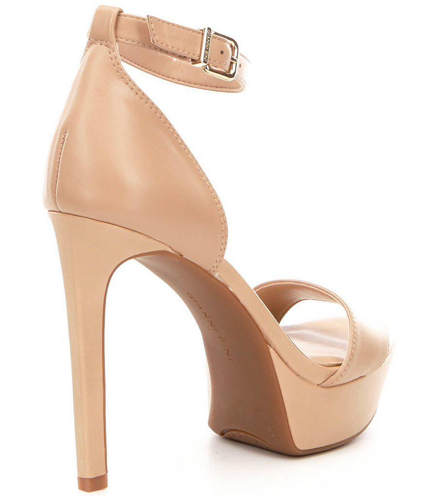 22467ceb1 Gianni Bini Pamona Ankle-strap Leather Dress Sandals in Pink - Lyst
