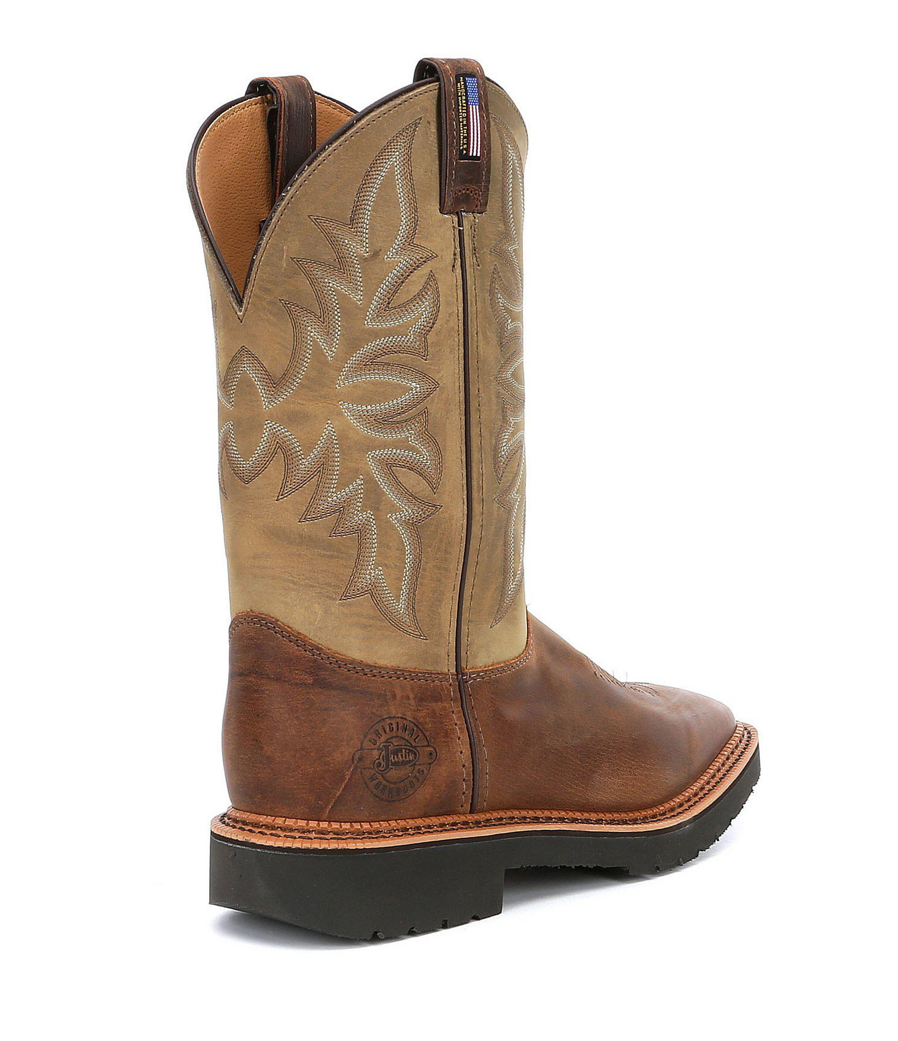 d73fdb67295 Brown Justin Original Work Boots Men's Scottsbluff Work Boots