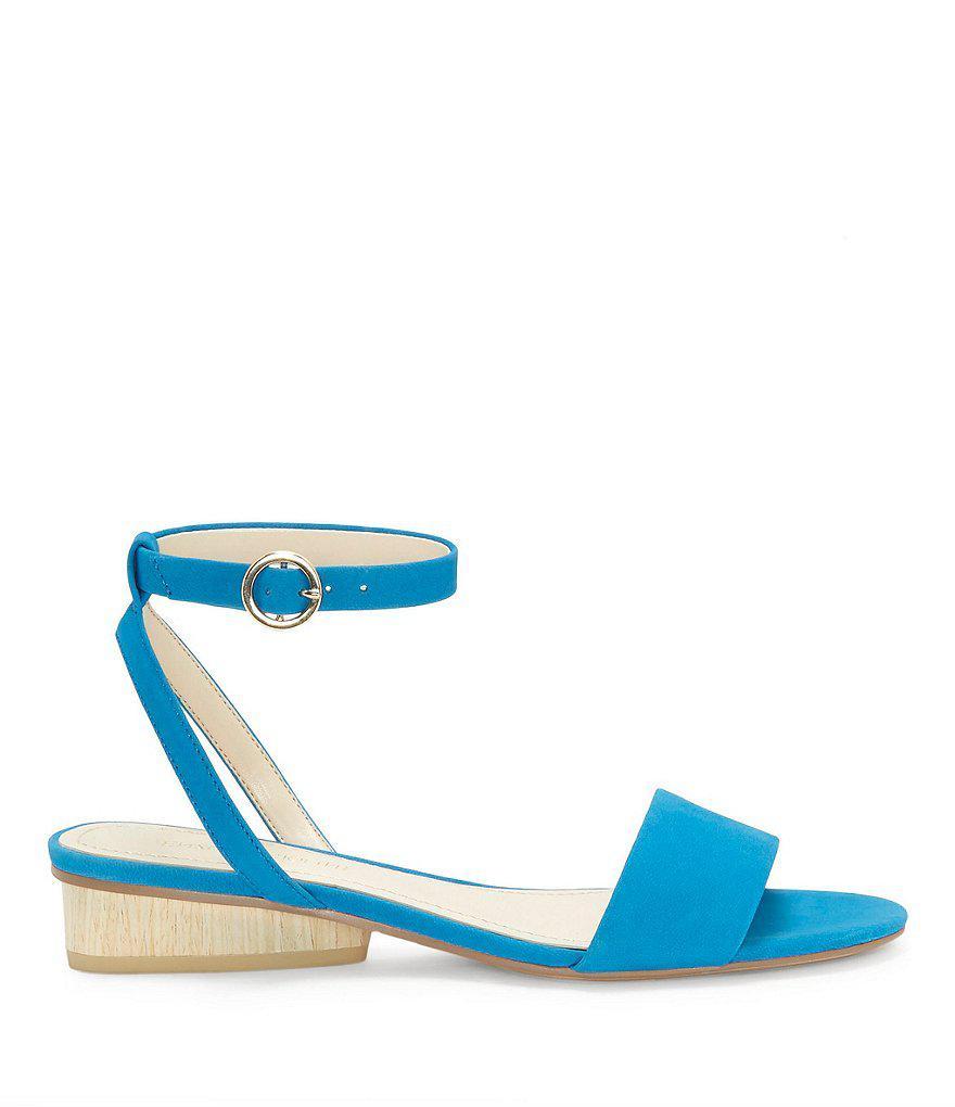 Polliana Nubuck Ankle Strap Block Heel Sandals Emdvg2oda