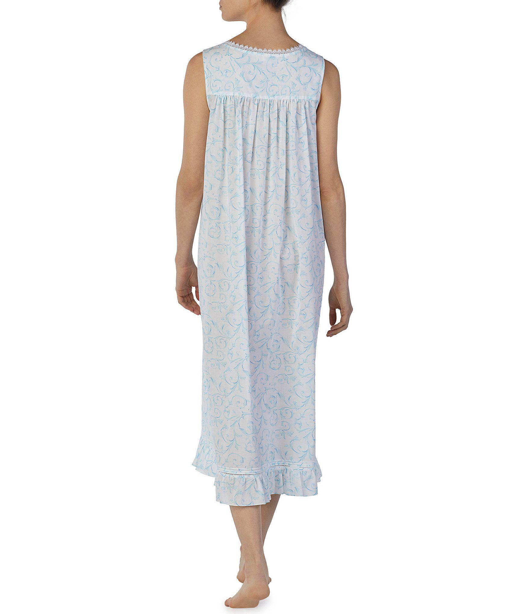 ec1219f3d8 Eileen West - Multicolor Scroll-print Lawn Ballet Nightgown - Lyst. View  fullscreen