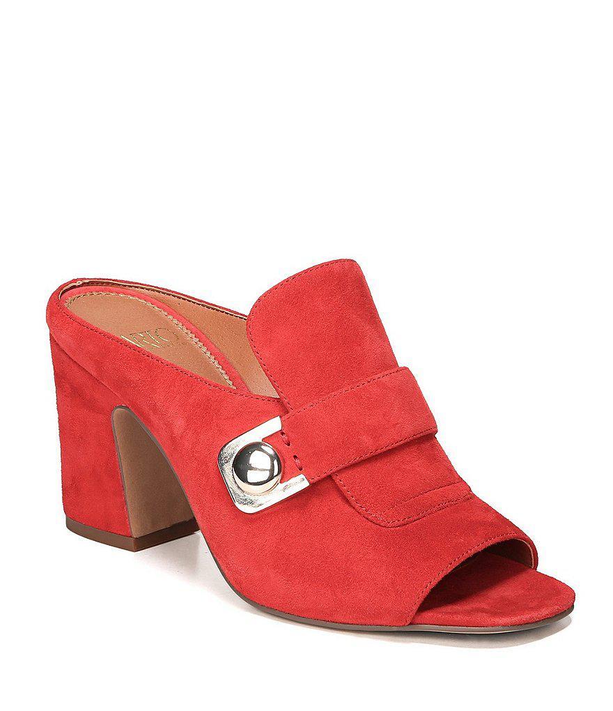 Sarto by Franco Sarto Rosalie Suede Block Heel Dress Sandals yMaR07GzK