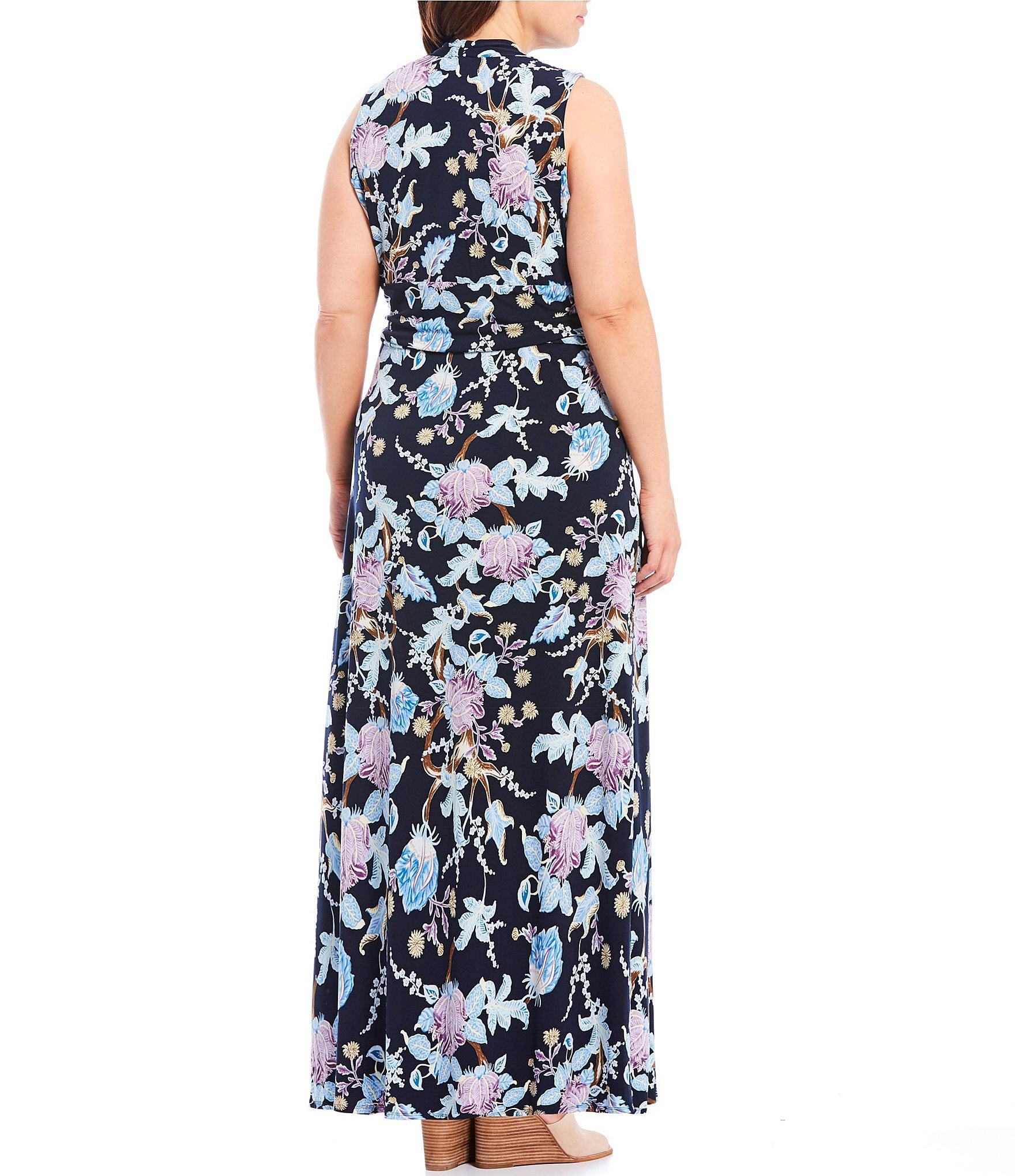 Poetic Blooms Printed Maxi Dress