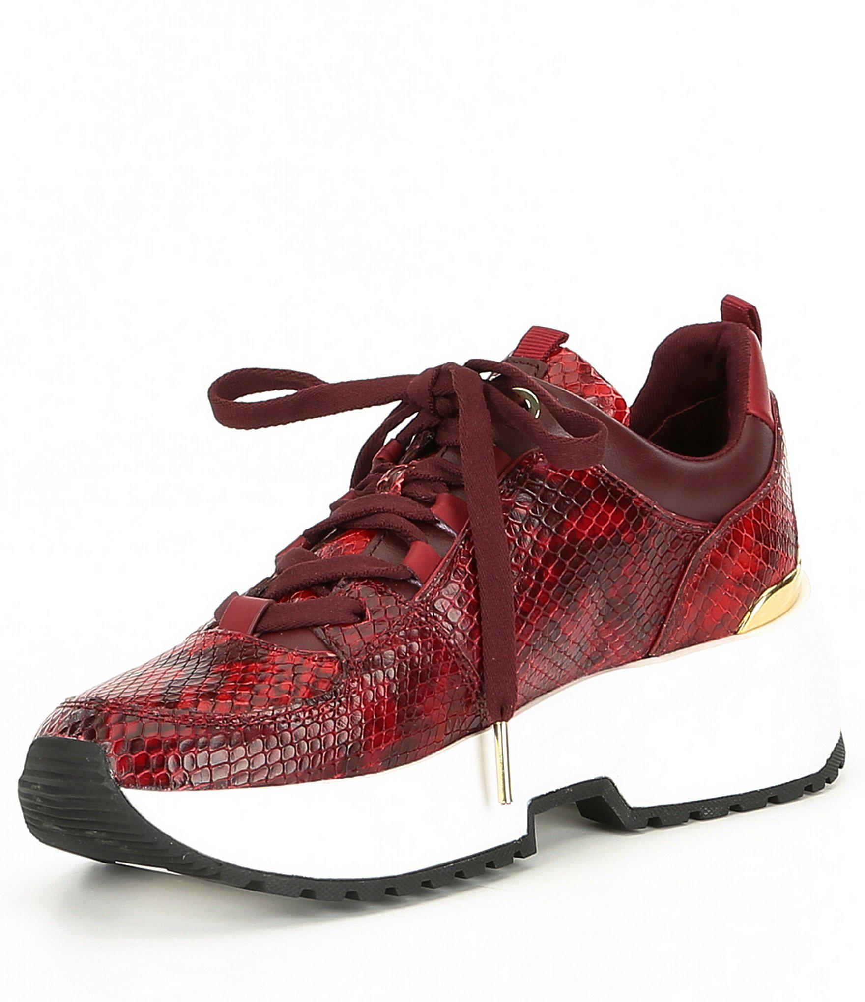 0f4796982 MICHAEL Michael Kors Cosmo Trainer Snake Printed Leather Sneakers in ...