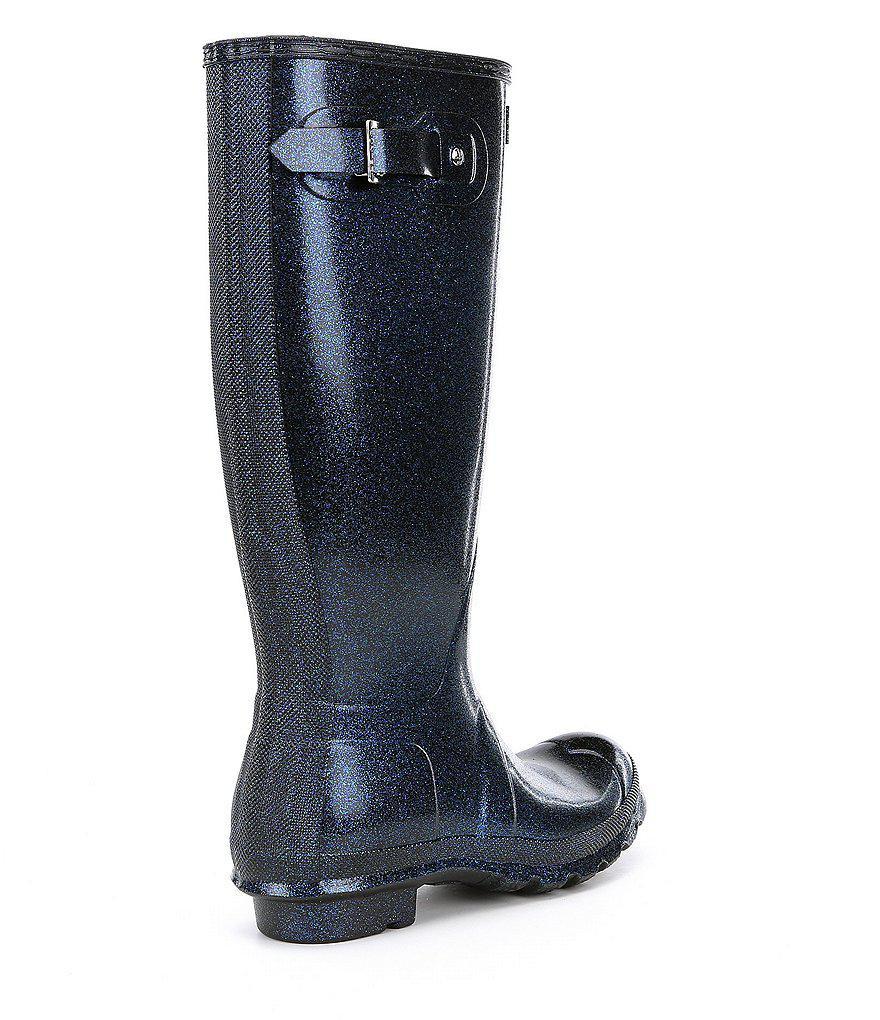 Women's Original Starcloud Buckle Detail Tall Glitter Rain Boots 7kurNLs