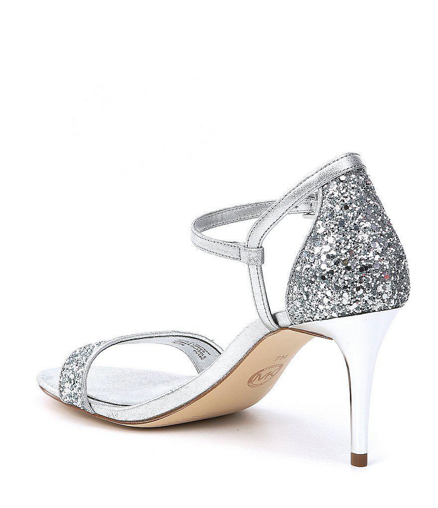 Simone Metallic Glitter Mid Dress Sandals LmyvY