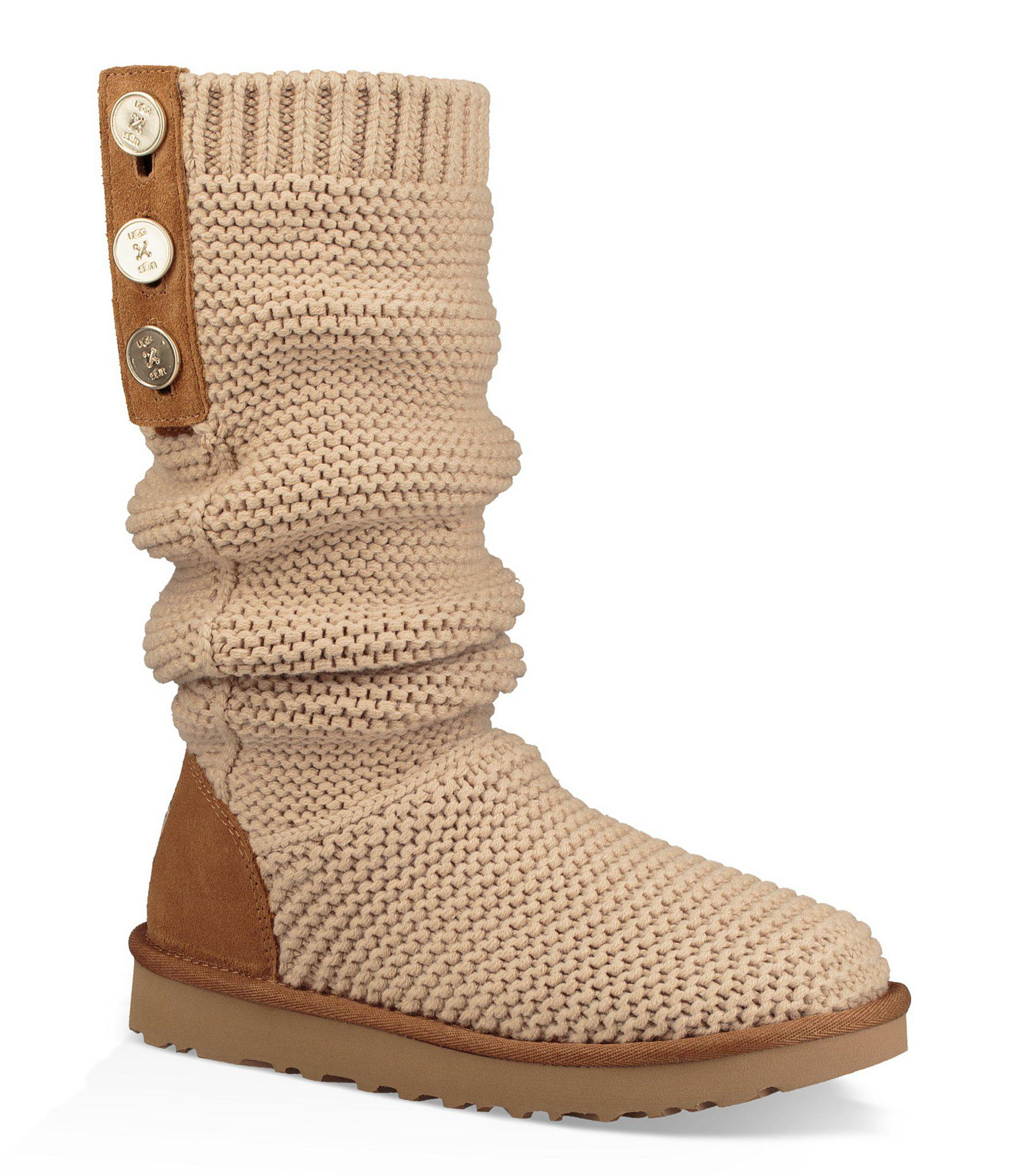 5ce86536591 Ugg Natural Purl Cardy Knit Boots