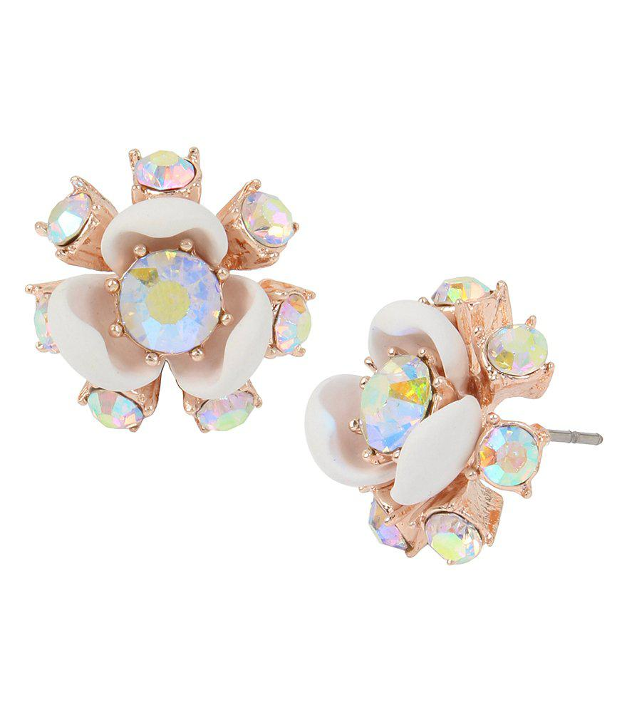 stud ct t diamond p tw flower view w v white earrings gold in