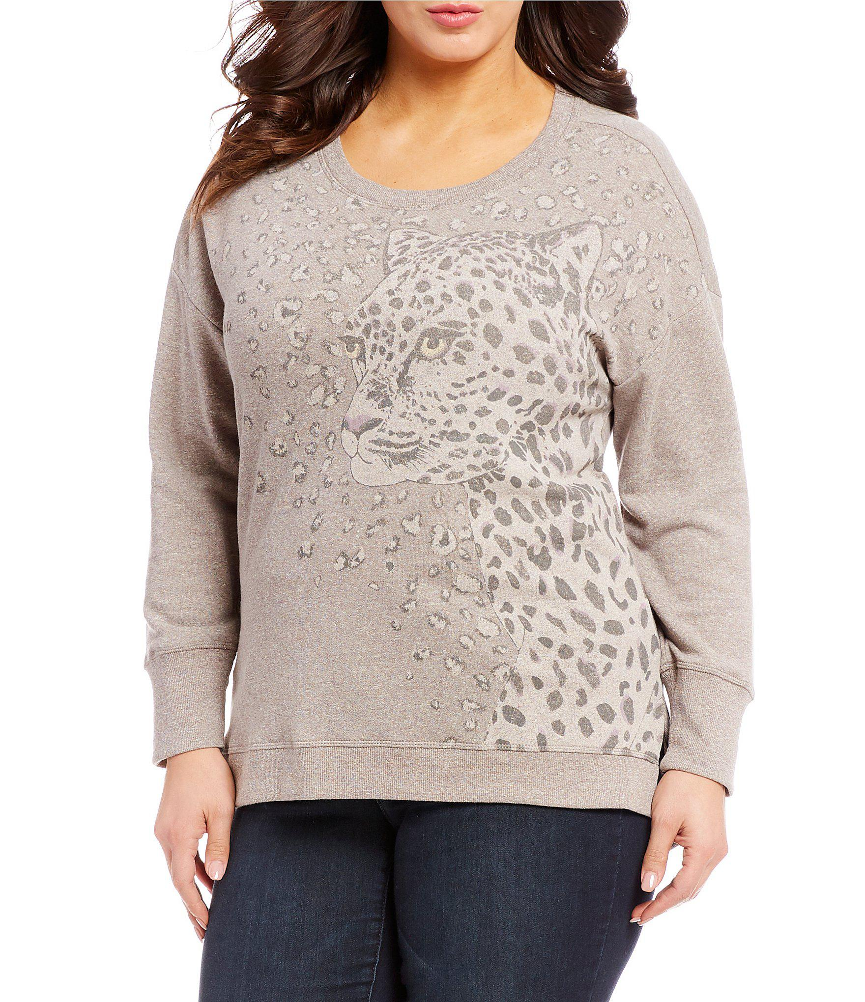 113a7ba1f42 Lyst - Democracy Plus Size Graphic Print Sweatshirt