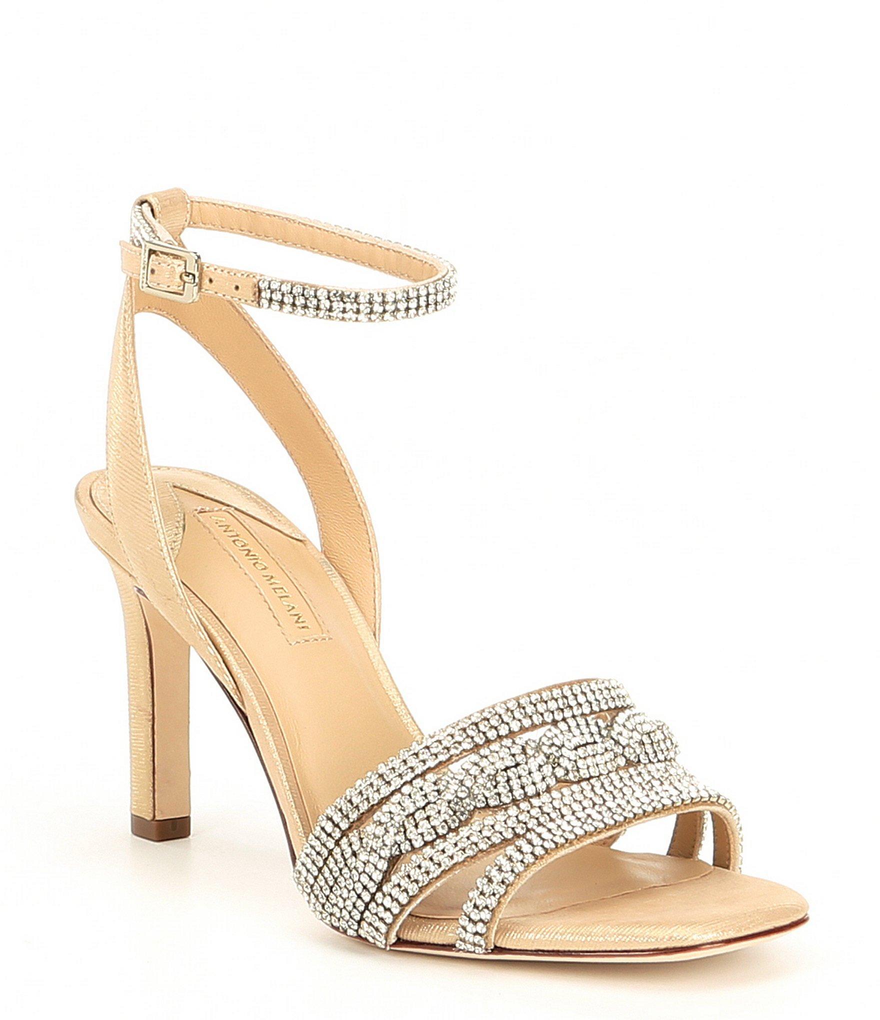 d1e6c3dae Antonio Melani. Women s Petrina Metallic Leather   Rhinestone Dress Sandals
