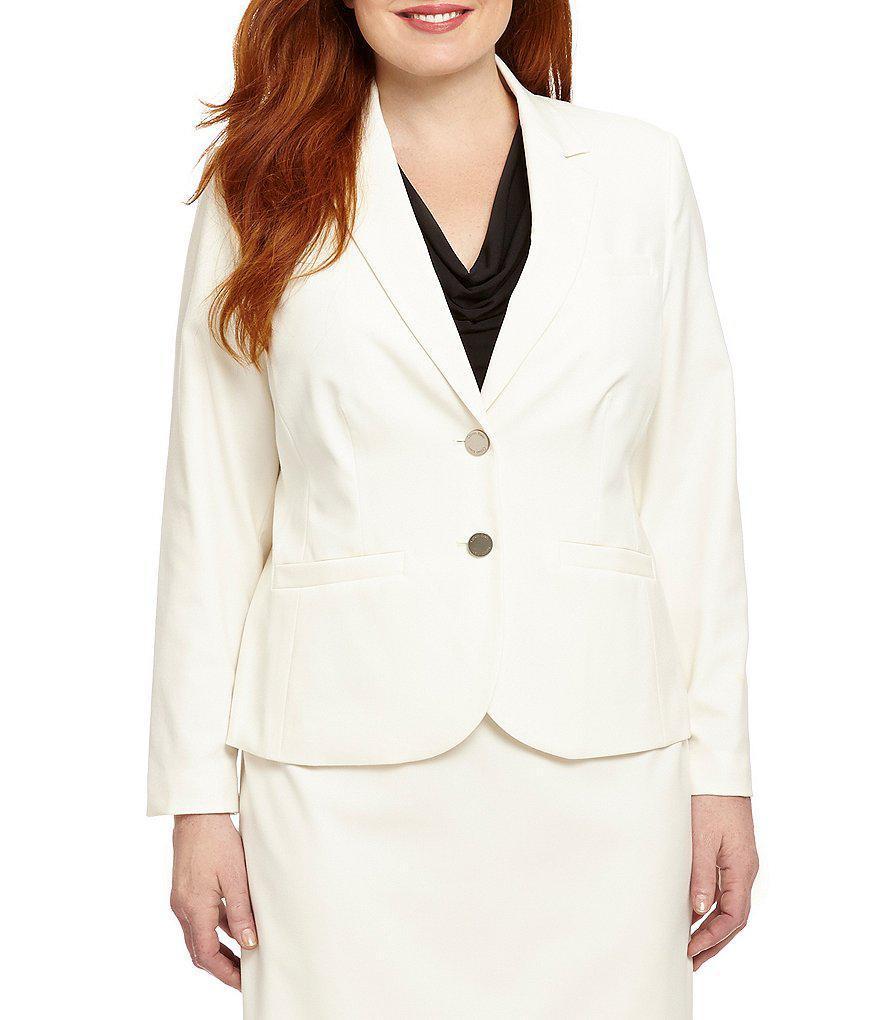 4ed7e58a9e34e Lyst - CALVIN KLEIN 205W39NYC Plus 2-button Suit Jacket in White