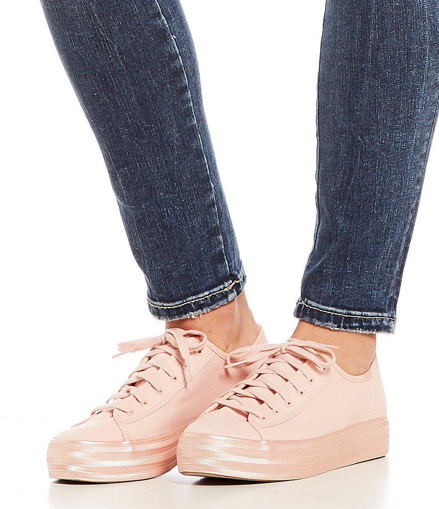546689a12142 Keds Triple Kick Shimmer Sneakers in Pink - Lyst