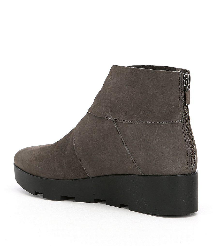 46d4a4ca4a4 Lyst - Eileen Fisher Tread Wedge Booties