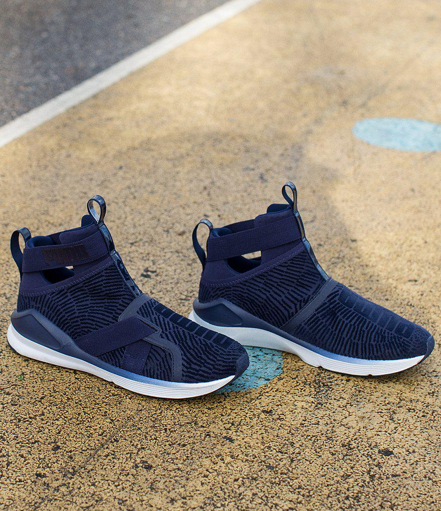 7208b627629a Lyst - PUMA Fierce Strap Flocking Sneakers in Blue for Men
