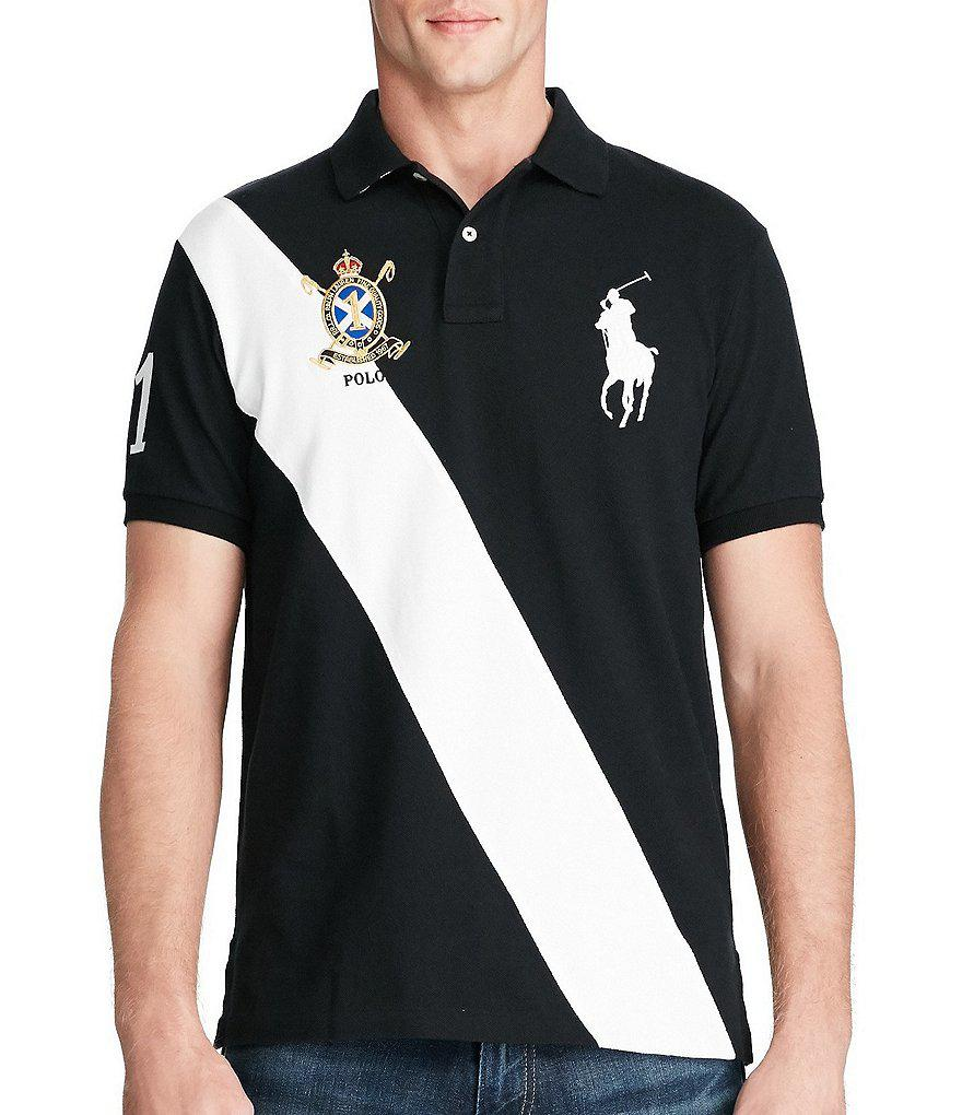 Lyst - Polo Ralph Lauren Classic-fit Big Pony Banner-stripe Short ... 3205bac3dee85