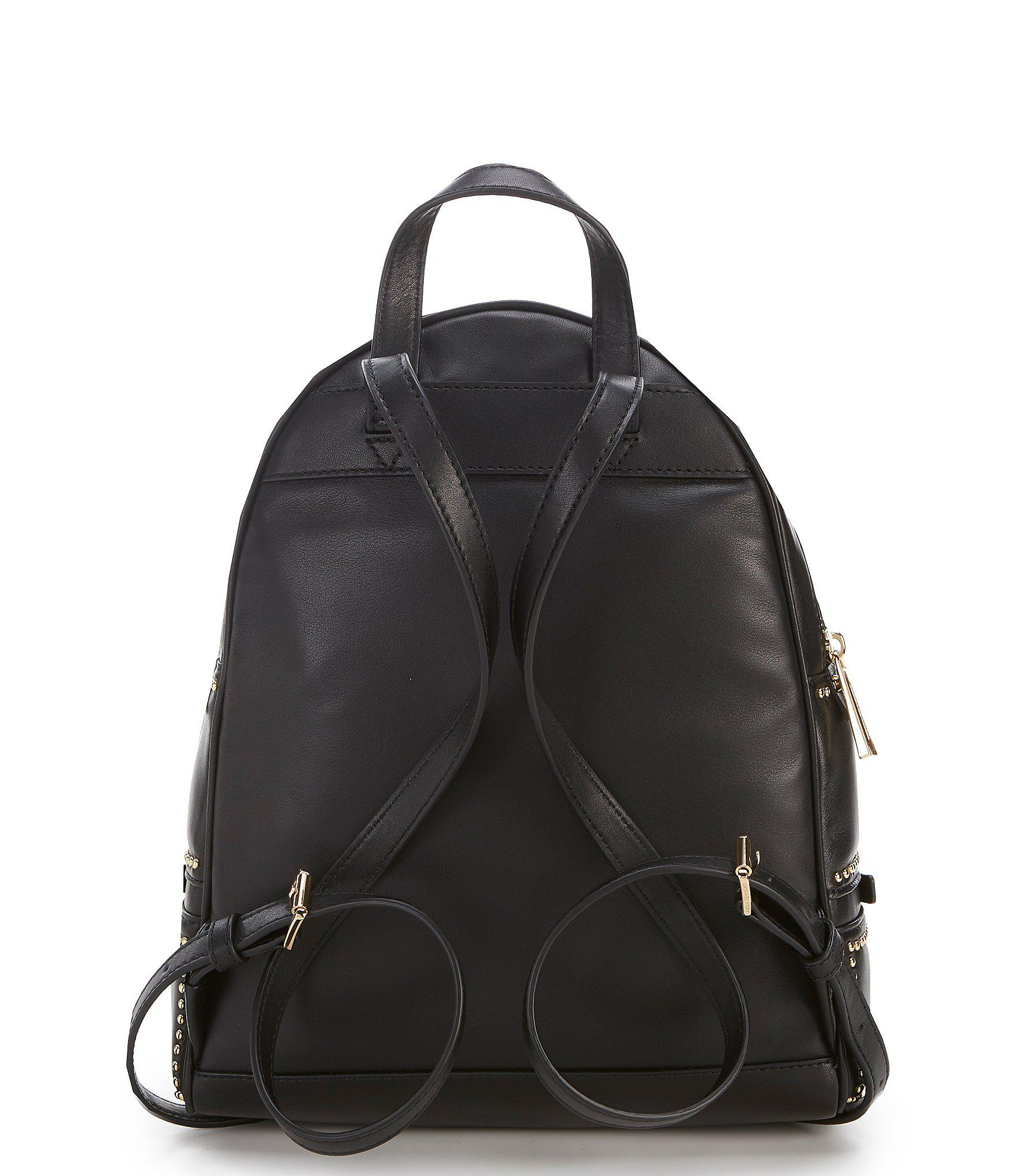 MICHAEL Michael Kors - Black Medium Studded Rhea Backpack - Lyst. View  fullscreen d5a21bd8eb