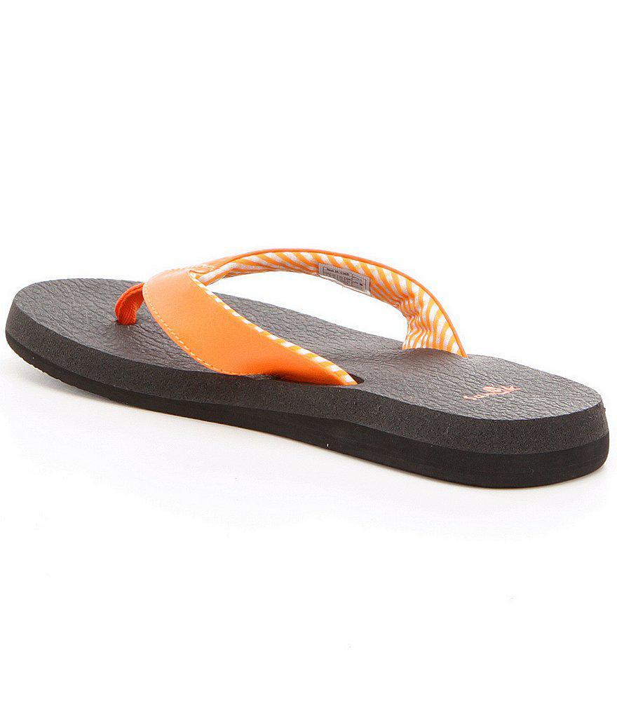 Sanuk Synthetic Yoga Mat Flip Flops In Tan Brown - Lyst-2860