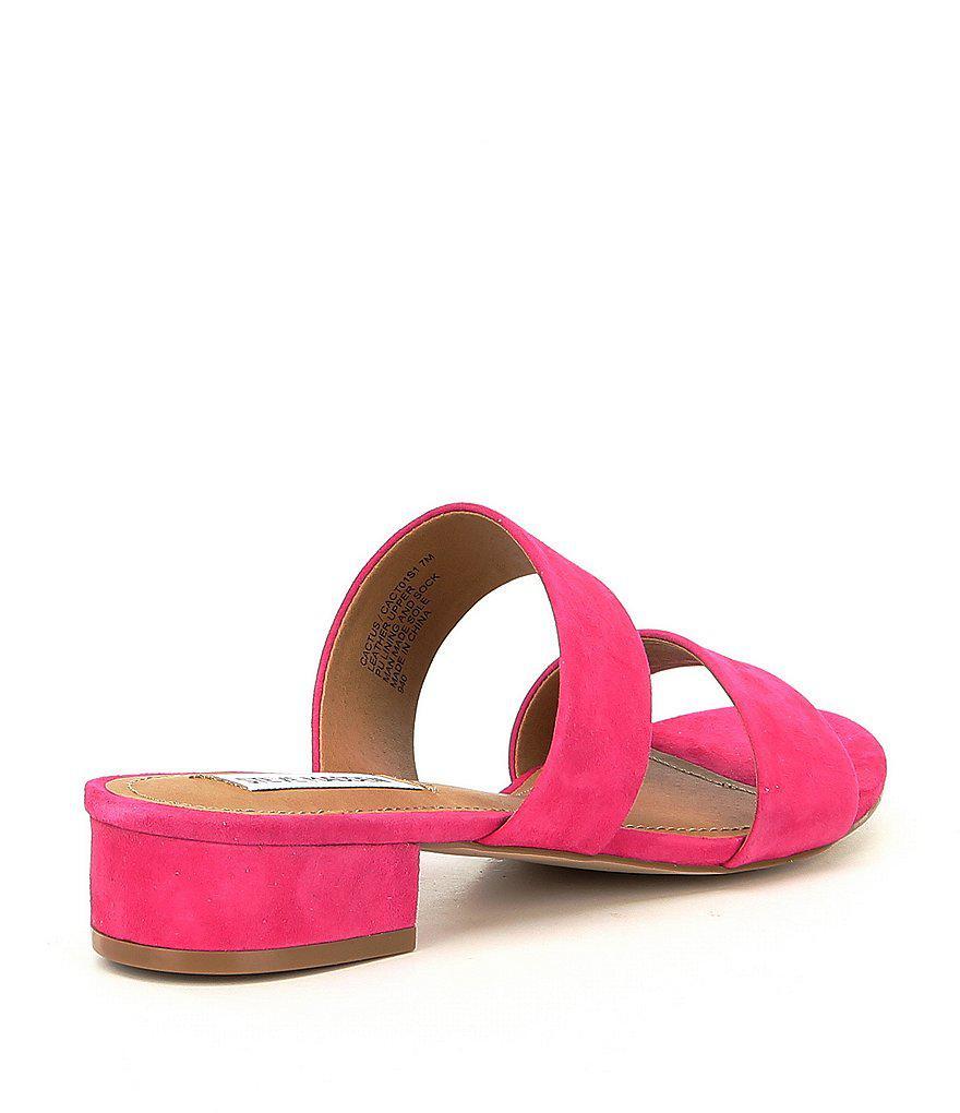 Cactus Suede Block Heel Sandals qtP98kGWl