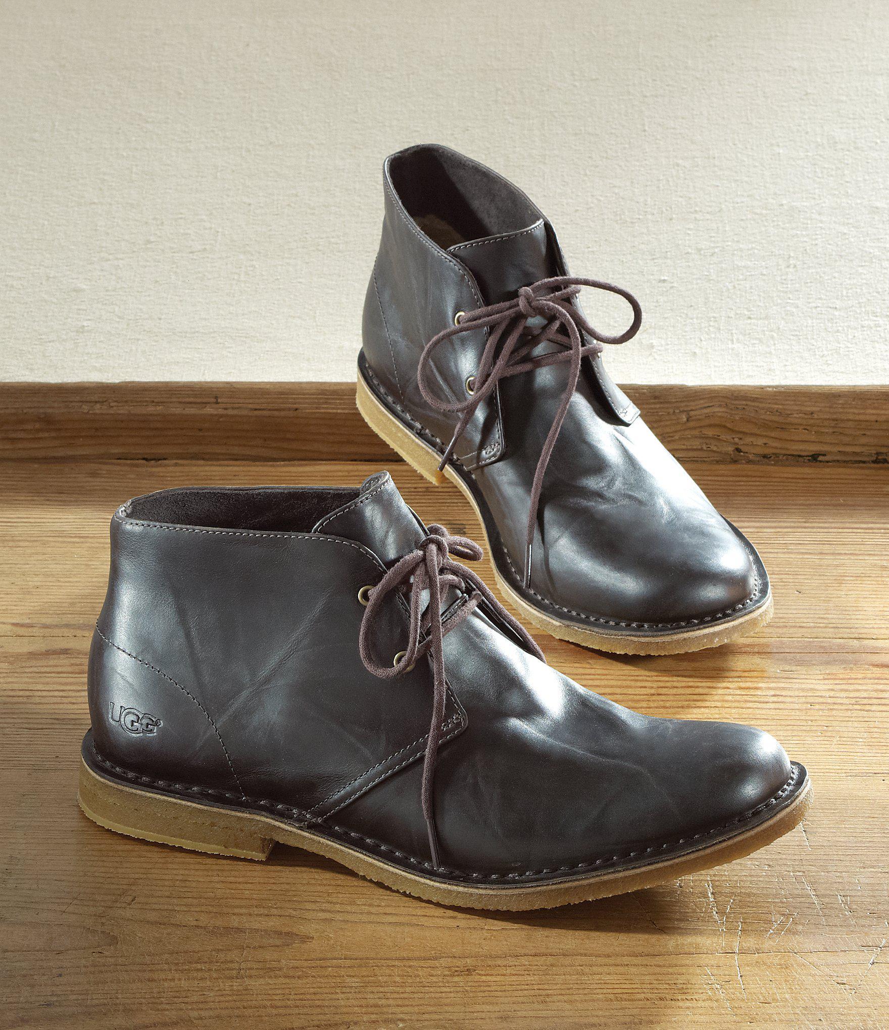 b63da4306a3 Ugg Black ® Men ́s Leighton Desert Chukka Boots for men