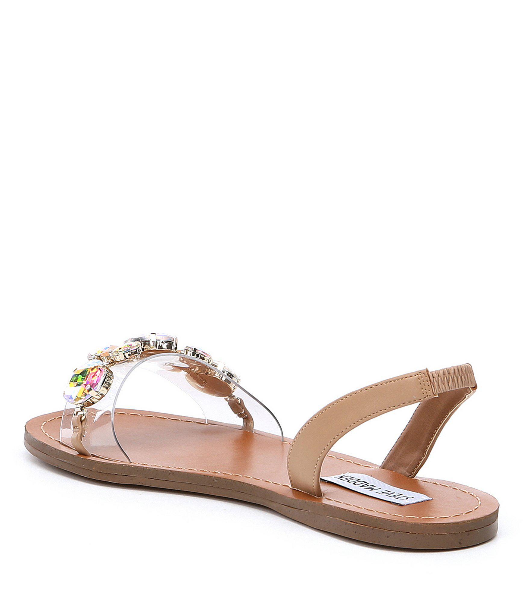 dc800815199 Steve Madden Multicolor Alice Lattice Transparent Slingback Jewel Sandals