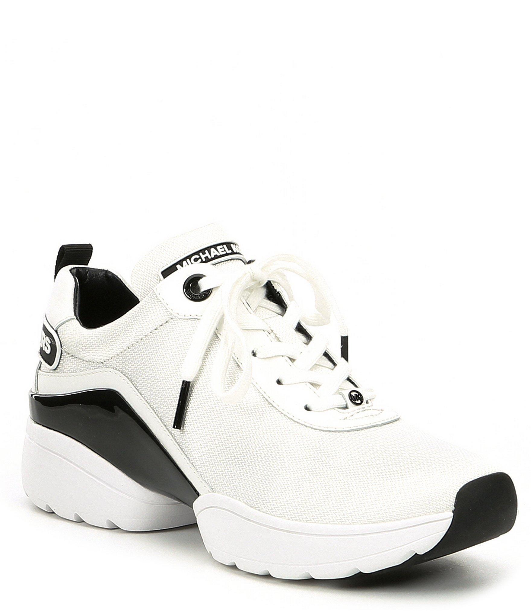 f4d14b73ffc8e Lyst - MICHAEL Michael Kors Jada Wedge Trainers in White