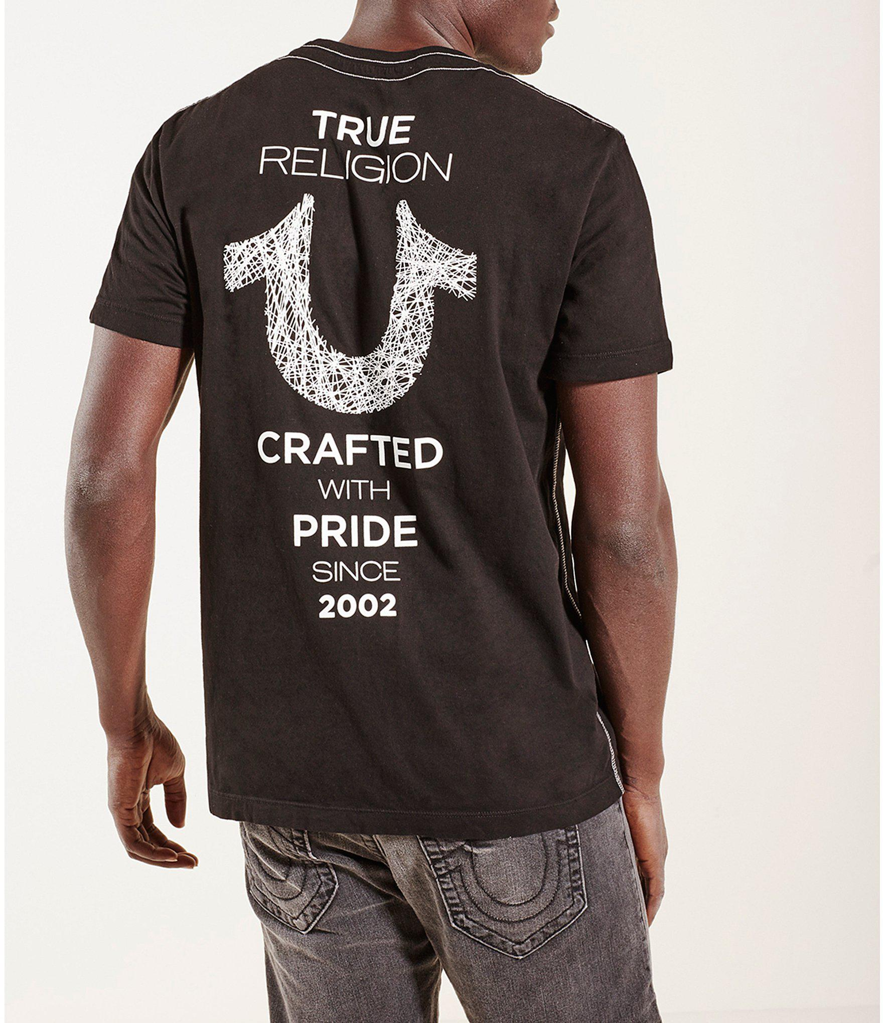 5078d3b9 True Religion Crafted With Pride Short-sleeve Crewneck Graphic Tee ...
