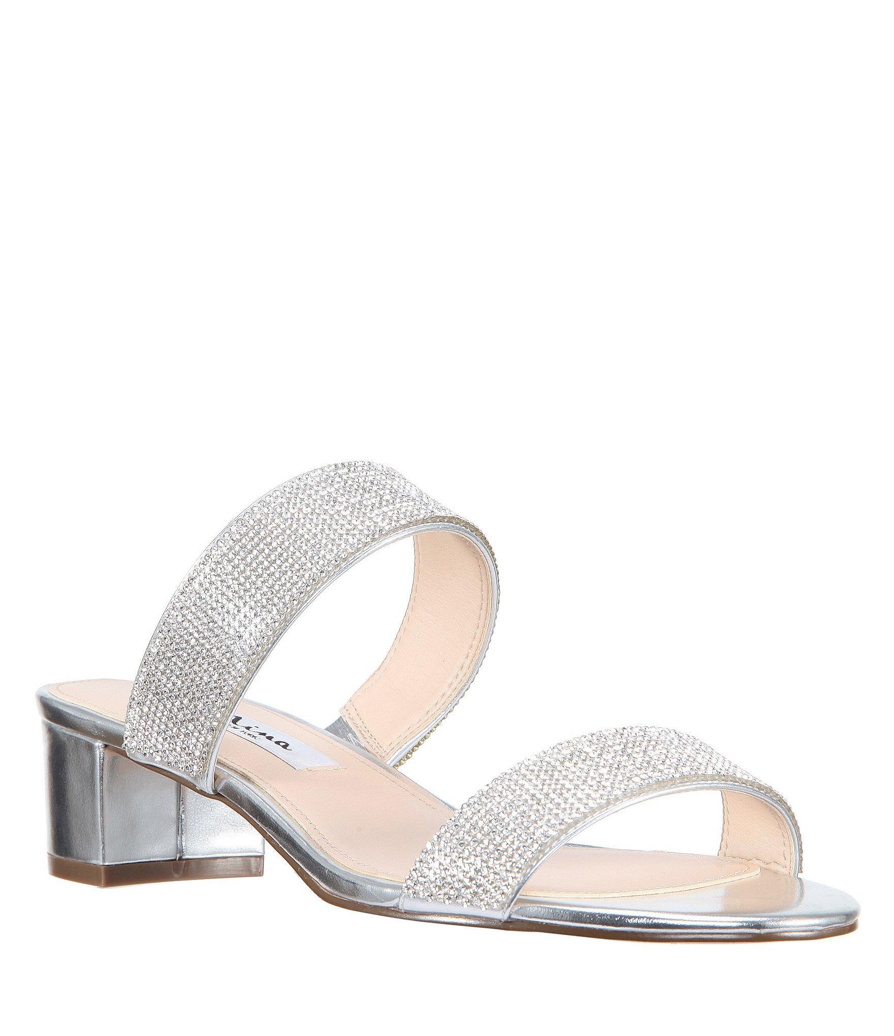 a209b01f64b Women's Georgea Metallic Block Heel Dress Sandals