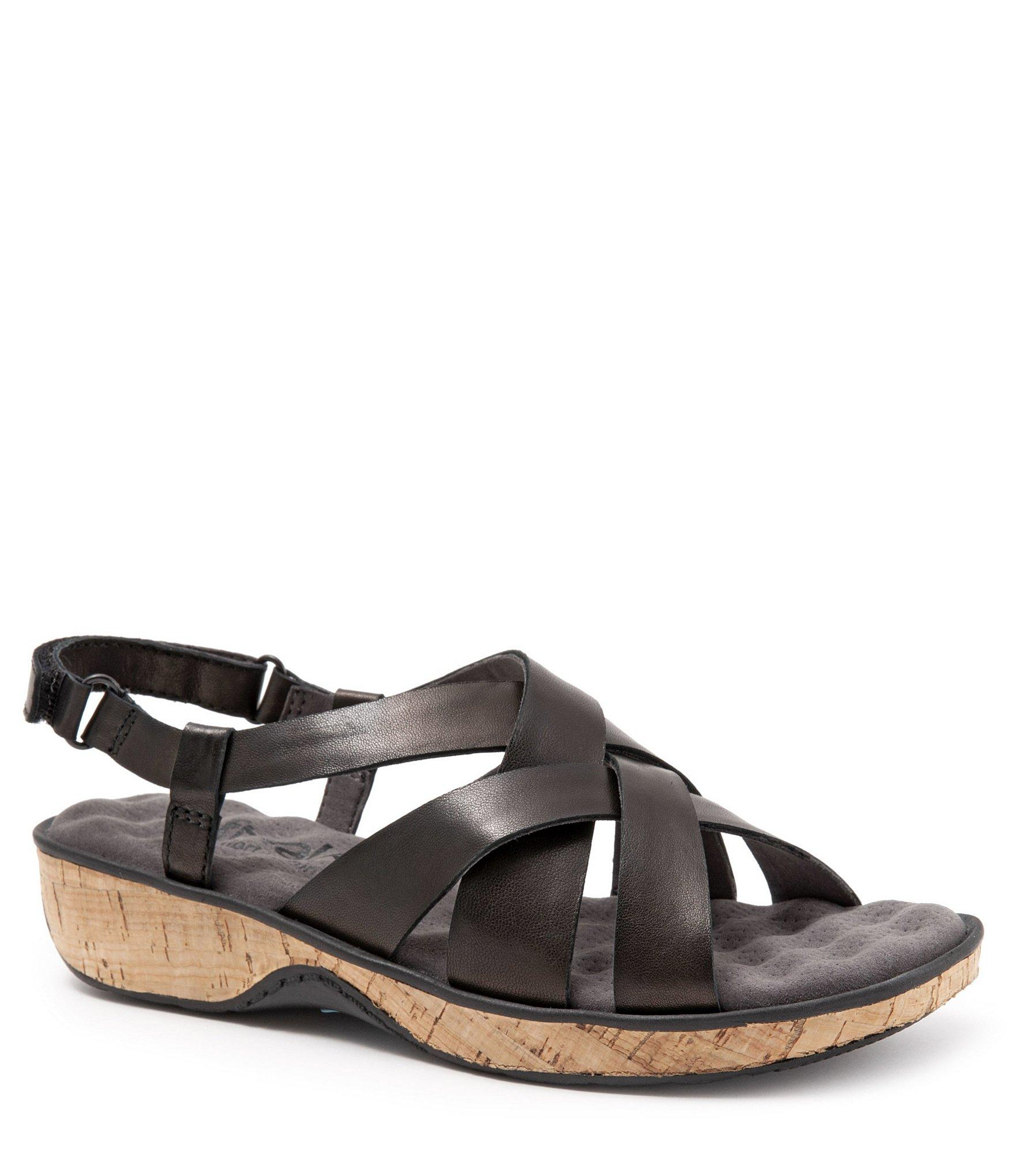94157030bf6d3b Lyst - Softwalk Bonaire Leather Criss-cross Strap Sandals in Black