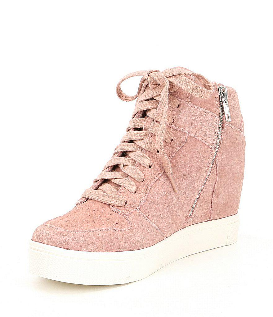 Noah Suede Lace Up Wedge Sneakers Xmqgy