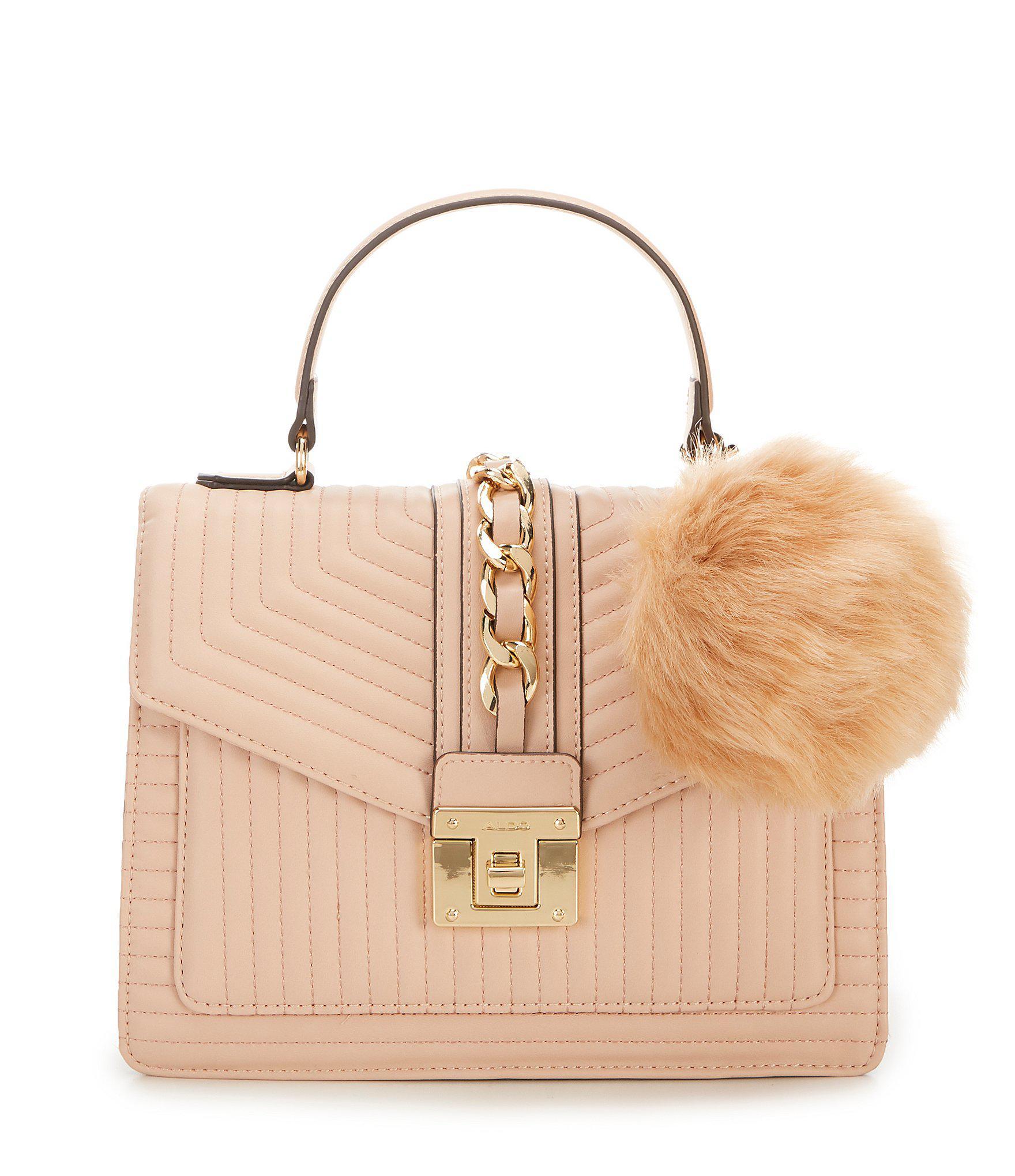 e1b764aaa41 ALDO Jerilini Top Handle Handbag in Natural - Lyst