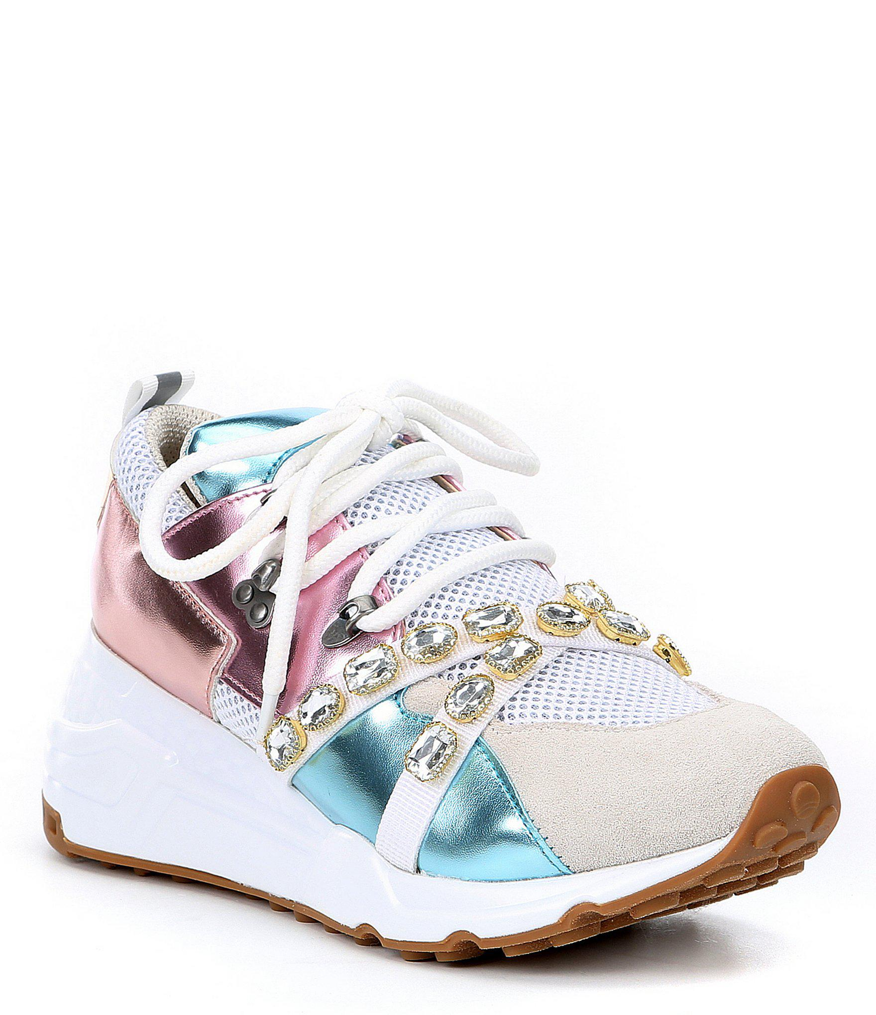 Lyst - Steve Madden Credit Fabric And Suede Sneakers d2529e7bcc9