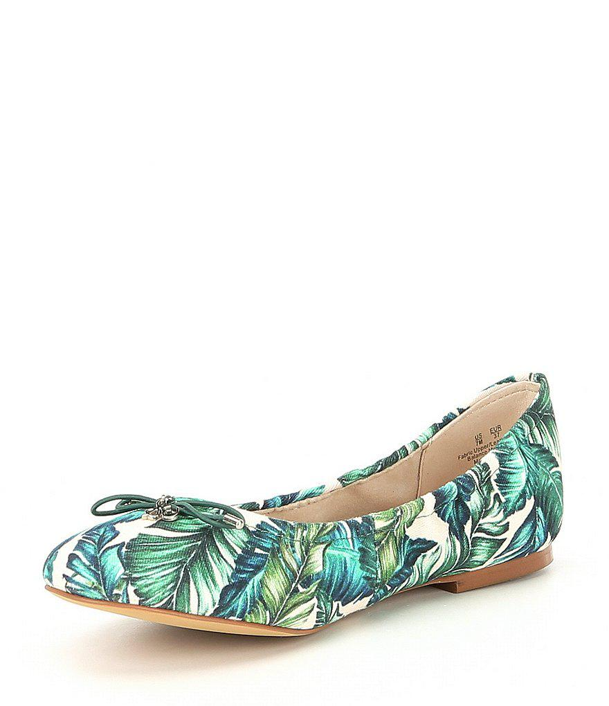 Sam Edelman Felicia Palm Floral Print Flats yHrW2