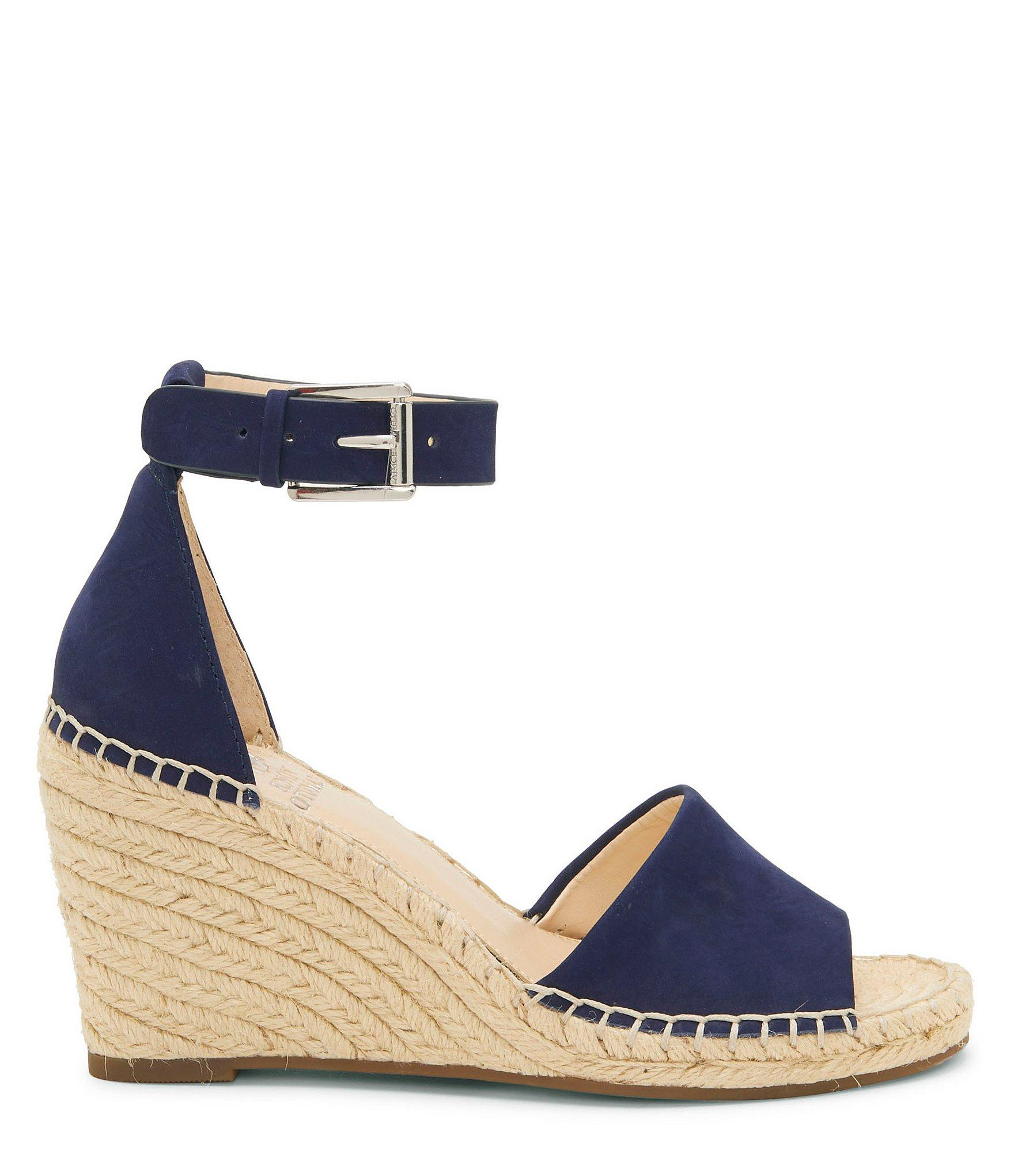 5247a51bcf ... Leera Nubuck Espadrille Wedge Sandals - Lyst. View fullscreen