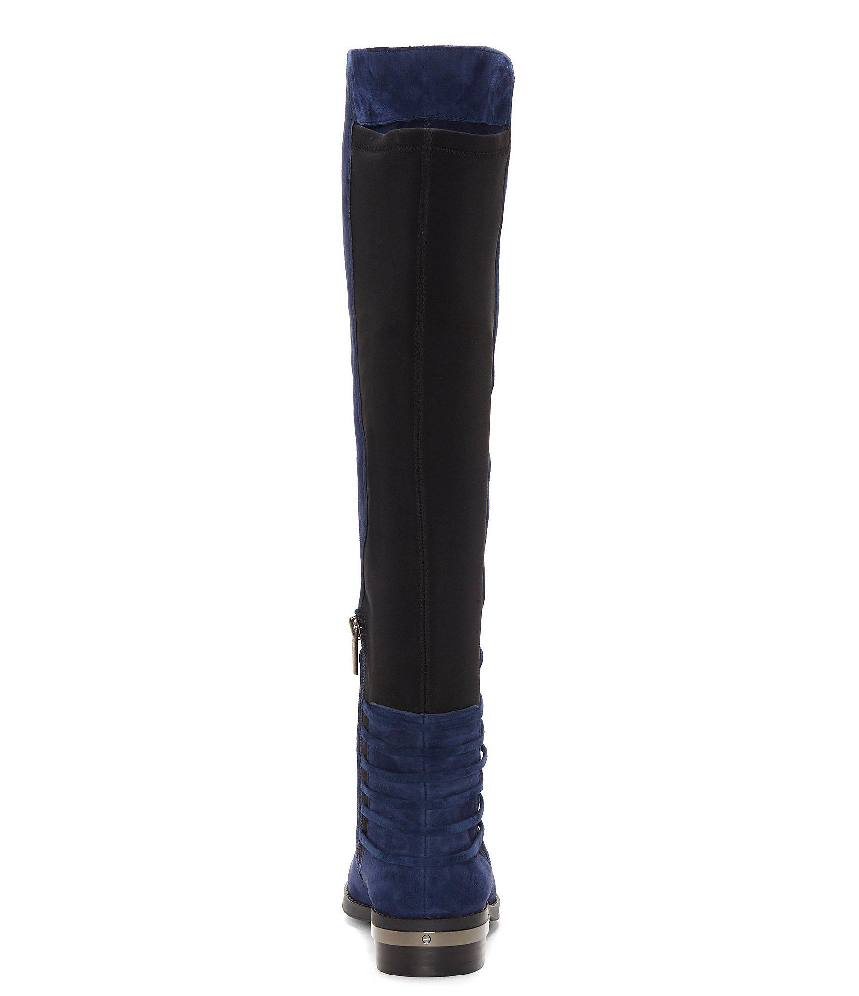 29cfe7204cd Lyst - Vince Camuto Payge Suede Over The Knee Riding Boots in Blue