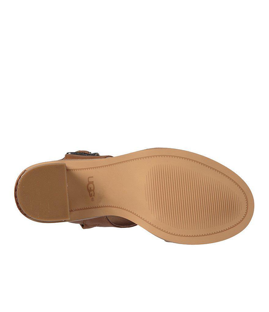 Claudette Buckle Detail Side Zip Block Heel Sandals HAW1Q