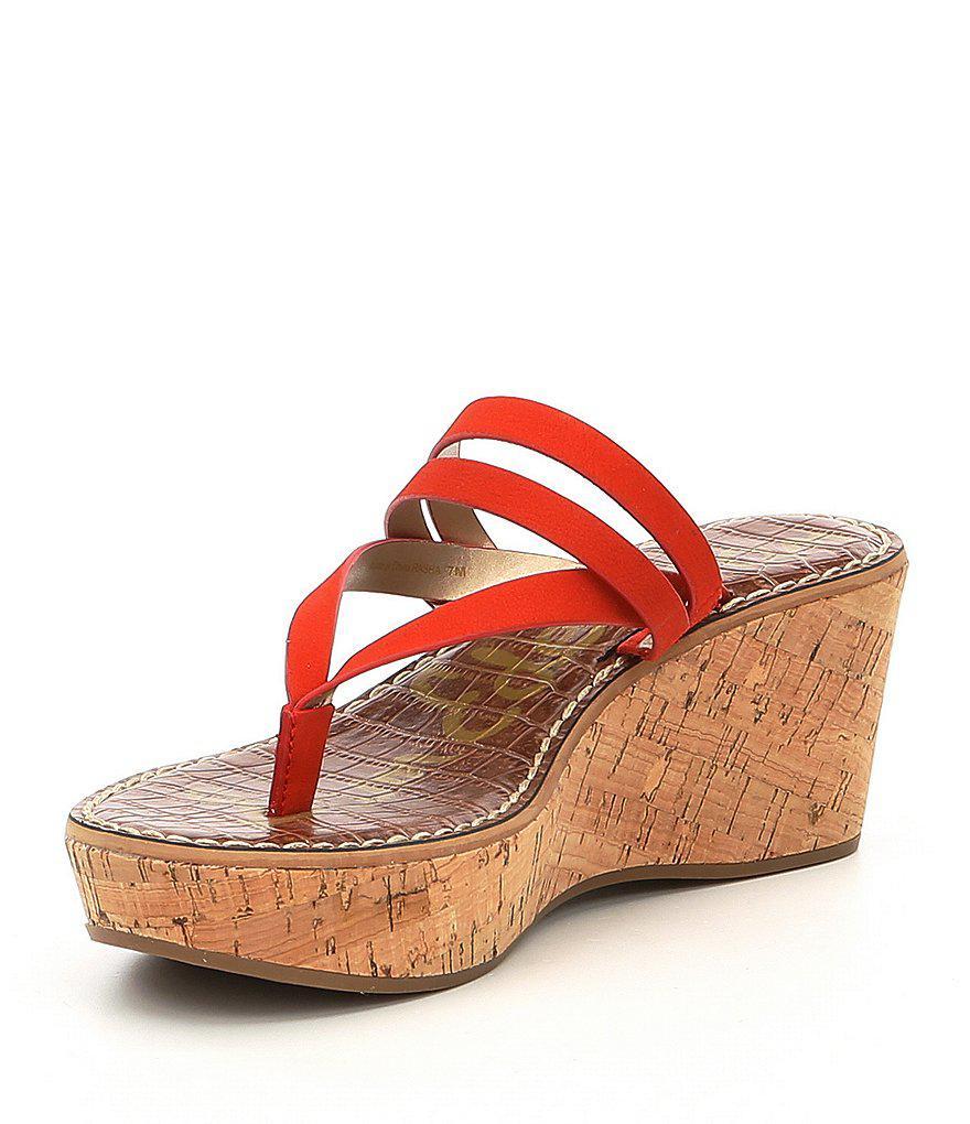 Rasha Nubuck Thong Wedge Sandals JDAhP