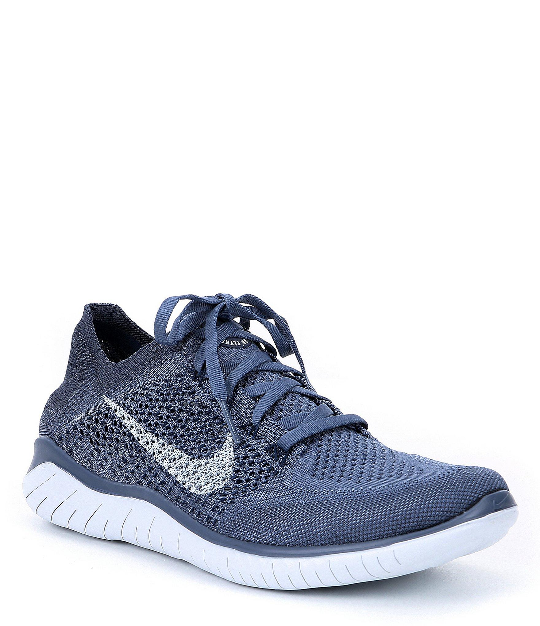 732b6436f0ff Lyst - Nike Men s Free Rn Flyknit Running Shoes in Blue for Men