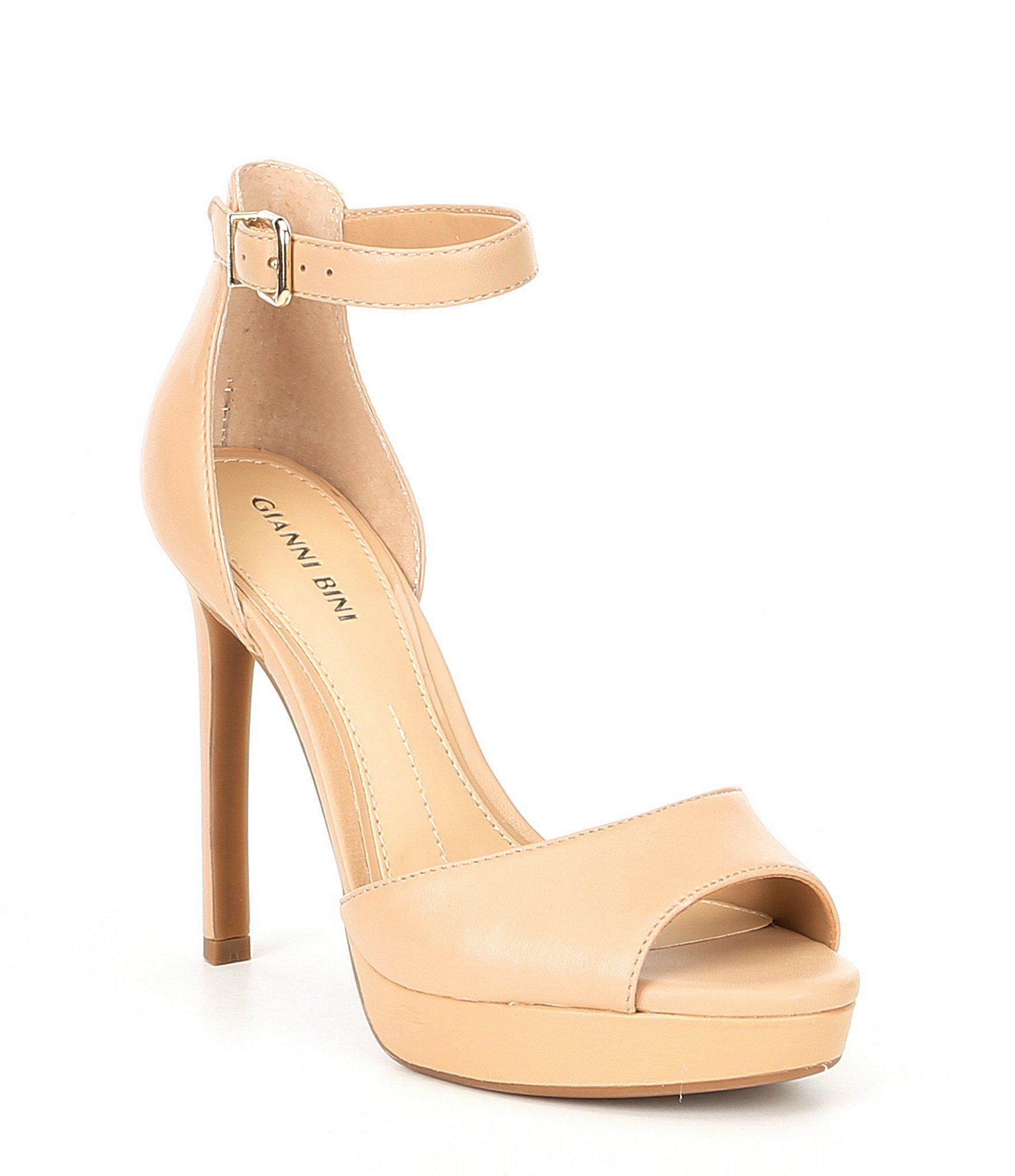 2b8c4b8cbdd Gianni Bini - Natural Austinne Platform Dress Sandals - Lyst. View  fullscreen